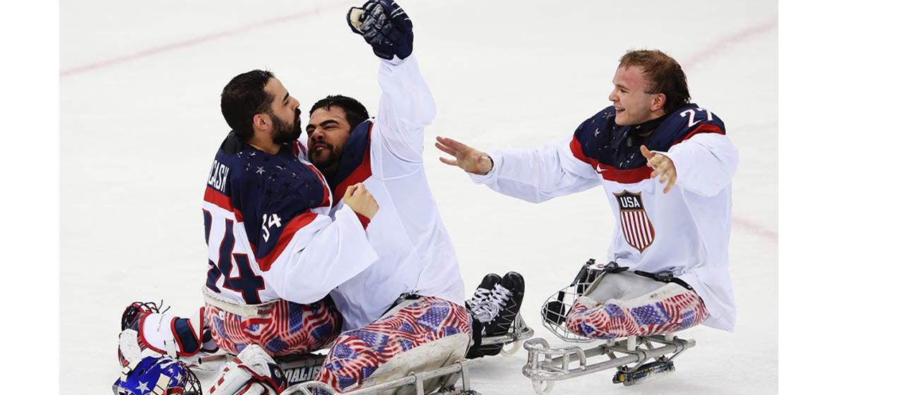USA vs Canada Men's Sled Hockey Exhibition Game 2